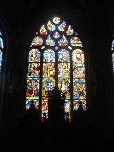 503. Pleyben. Iglesia.Vidrieras de la Pasión. XVI