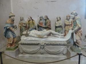 559. Lampaul-Guimiliau. Iglesia. Puesta en la tumba (Antoine Chavagnac, XVII)
