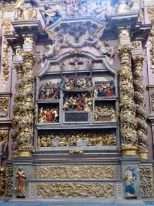 563. Lampaul-Guimiliau. Iglesia. Retablo de la Pasión