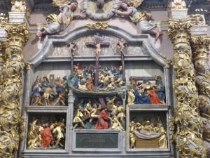 564. Lampaul-Guimiliau. Iglesia. Retablo de la Pasión