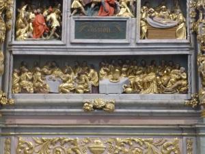 565. Lampaul-Guimiliau. Iglesia. Retablo de la Pasión