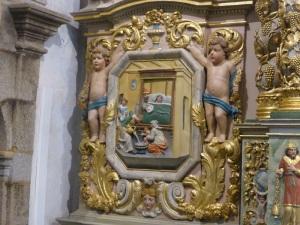 566. Lampaul-Guimiliau. Iglesia. El Nacimiento de la Virgen