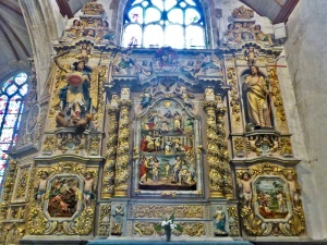 568. Lampaul-Guimiliau. Iglesia. Retablo de San Juan Bautista