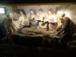 621. Saint Thégonnec. Cripta. Puesta en la tumba (Jacques Laispagnol, 1702, en roble)