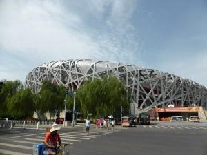 010. Pequín. Zona Olímpica. Estadio Nido de Pájaro