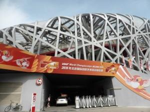 011. Pequín. Zona Olímpica. Estadio Nido de Pájaro