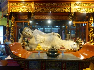 1026. Shangai. Templo de los Budas de Jade. Buda recostado