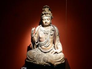 1065. Museo de Shangai. Bodhisattva. Madera. Jin Dynasty, 1115-1234