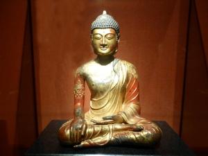 1067. Museo de Shangai. Buda Mahavairocana. Bronce. Reino de Dali, 1163