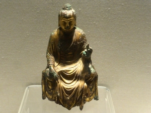1070. Museo de Shangai. Buda. Bronce dorado. Dinastía Tang 618-907