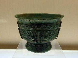 1116. Museo de Shangai. Vasija para comida. Finales dinastía Shang. XIII-XI a. C.