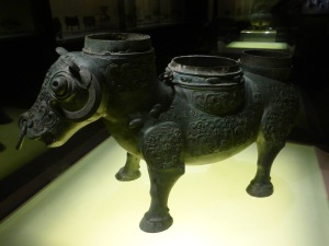 1132. Museo de Shangai. Vasija para vino con cabeza de buey. 500-476 a. C.