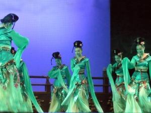 450. Xian. Cena-espectáculo de la Dinastía Tang