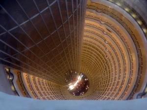937. Shangai. Interior de la Torre Jinmao