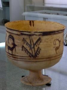 048. Teherán. Museo Arqueológico. 2ª mitad del tercer milenio a. C. Primer intento de representar una escena en movimiento