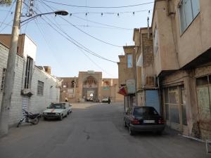 264. Kashán. Al fondo la mezquita y madraza Agha Bozorg