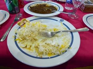 402. Isfahán. Restaurante Abbasi. Fesenjoon (pollo con salsa de granadas)