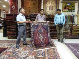 410. Isfahán. Fábrica de alfombras