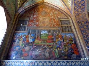 459. Isfahán. Palacio Chehel Sotun. Recepción del Sha Tahmasb Safavid, rey de la India en 1550