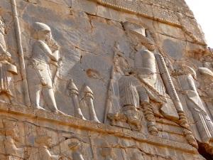 941. Persépolis. Salón de las cien columnas. Puerta norte. Detalle de la audiencia real