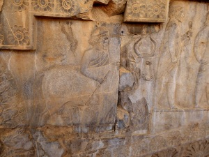 959. Persépolis. Relieves de la Apadana
