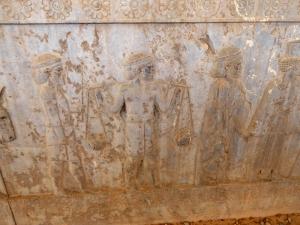 963. Persépolis. Relieves de la Apadana