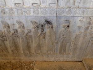 972. Persépolis. Relieves de la Apadana