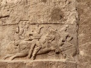 1036. Persépolis. Naqsh-e Rustam. Posible tumba de Darío II. Victoria de Sepur II (309-379)