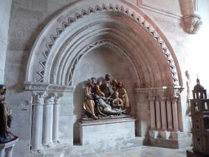 060. Valladolid. Museo Diocesano. Llanto sobre el cristo muerto. Maestro de San Pablo de la Moraleja. Hacia 1500