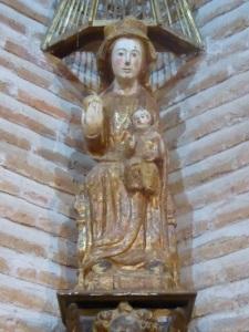 167. Castillo de Coca. Virgen gótica. Siglo XIV