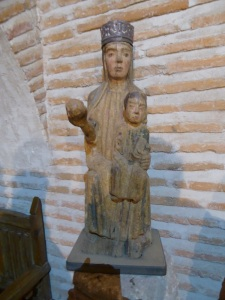 168. Castillo de Coca. Virgen románica. Siglo XIII