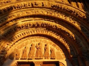 212. Monasterio de Leyre. Porta Speciosa. Tímpano