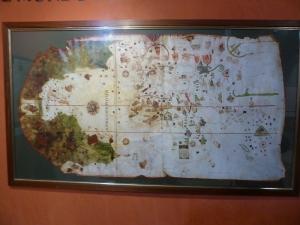 233. Tordesillas. Casas del tratado. Copia del mapa de Juan de la Cosa