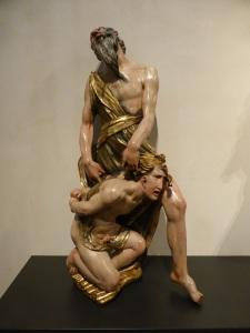 83d. Valladolid. San Gregorio. Museo Nac. Escultura. Sacrificio de Isaac de Alonso Berruguete