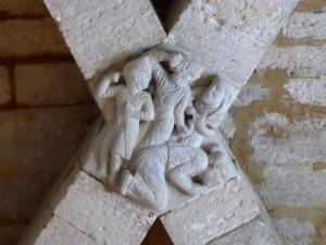 Clave con la lapidación de San Esteban