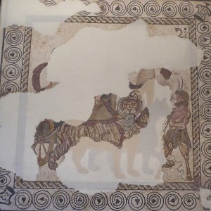 Mosaico del Triunfo de Baco 1. Procede de Andelos (Mendigorría). Siglos I-II