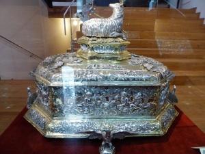 205. La Coruña. Santa María del Campo. Museo de Arte Sacro. Arquina eucarística. Augsburgo. 1691