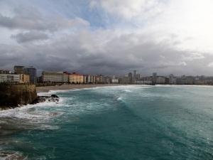 216. La Coruña. Playa del Orzán