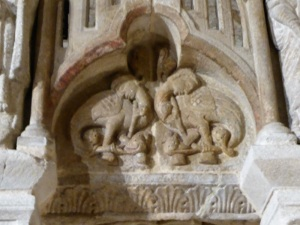 253. Santiago de Compostela. Antiguo coro recompuesto con fragmentos hallados