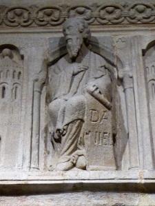 254. Santiago de Compostela. Antiguo coro recompuesto con fragmentos hallados