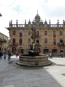 283. Santiago de Compostela. Plaza de Platerías. fuente de los Caballos