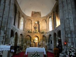313. Santiago de Compostela. Nuestra Señora del Sar. Ábside central. Interior