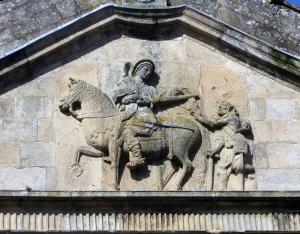 352. Santiago de Compostela. San Martín Pinario. Iglesia. Frontón
