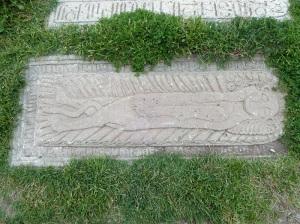 1041. Monasterio de Novarank. Lápida obispo