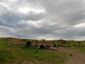 920. Arshavan. Monumento alfabeto armenio