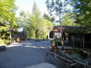 061. Cercanías de Quebec. Imitación poblado indios hurones