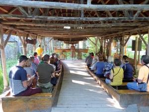 077. Cercanías de Quebec. Imitación poblado indios hurones