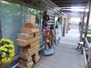 080. Cercanías de Quebec. Imitación poblado indios hurones