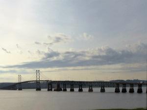 101. Saliendo de Quebec hacia Taboussad. Último puente sobre el San Lorenzo