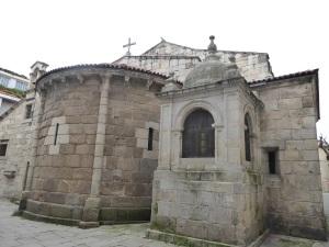 198. La Coruña. Santa María del Campo. Cabecera desde el norte